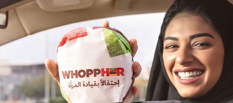Burger King dá Whoppers para mulheres motoristas na Arábia Saudita