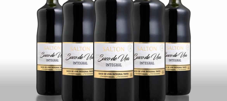 Nova versão de 1,5 litro do Suco de Uva da Salton é envasada com garrafa Verallia