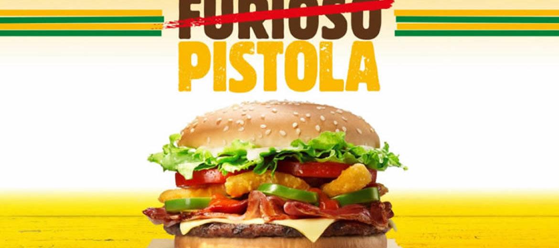 """""""Whopper Furioso"""" vira """"Whopper Pistola"""" em ação do Burger King"""
