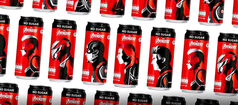 Vingadores + Coca-cola = Combinação perfeita!