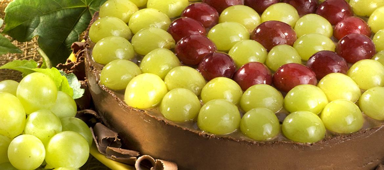 Torta de Uva com Chocolate para complementar a Ceia de Ano Novo