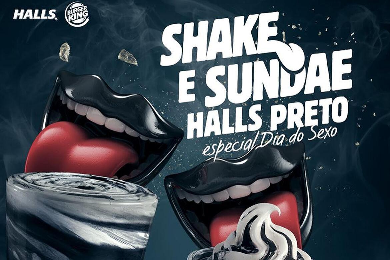 Burger King lança shake e sundae de Halls preto para comemorar Dia do Sexo